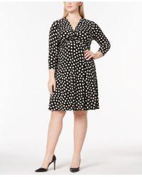 Anne Klein - Plus Size Twisted Empire-waist Dress - Lyst