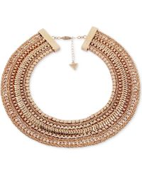 "Guess - Gold-tone Multi-chain Collar Necklace, 16"" + 2"" Extender - Lyst"