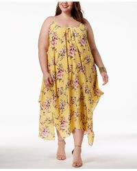 Soprano - Trendy Plus Size Handkerchief-hem Maxi Dress - Lyst