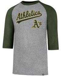47 Brand - Oakland Athletics Pregame Raglan T-shirt - Lyst