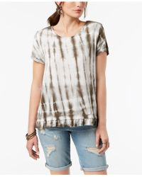Style & Co. - Tie-dyed Ruffle-hem T-shirt, Created For Macy's - Lyst