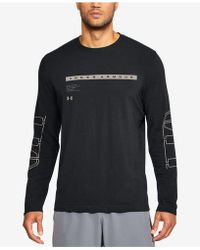 Under Armour - Men's Charged Cotton® Graphic Long-sleeve T-shirt - Lyst