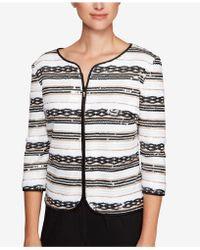 Alex Evenings - Sequined Stripe Zip Jacket - Lyst