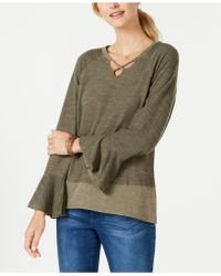 Style & Co. - X-front Bell-sleeve Top, Created For Macy's - Lyst