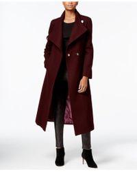 Kenneth Cole - Wool-blend Maxi Wrap Coat - Lyst