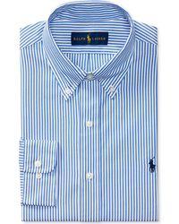 Polo Ralph Lauren - Pinpoint Oxford Blue Stripe Dress Shirt - Lyst