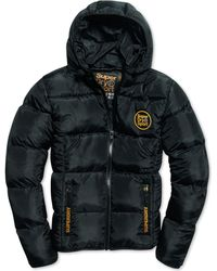 Superdry - Mens Gold Puffer Coat - Lyst