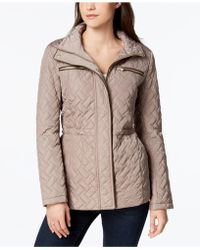 Cole Haan - Signature Faux-leather-trim Quilted Anorak - Lyst