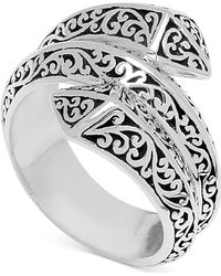 Lois Hill - Filigree Pyramid Wrap Ring In Sterling Silver - Lyst