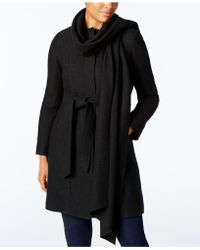 Cole Haan - Walker Coat With Scarf - Lyst