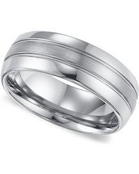 Triton - Men's Tungsten Carbide Ring, Comfort Fit Wedding Band (8mm) - Lyst