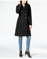 Guess - Double-breasted Military Peacoat - Lyst