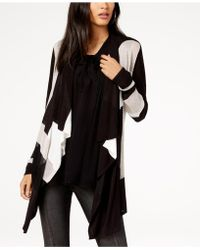 INC International Concepts - Colorblocked Waterfall Cardigan - Lyst