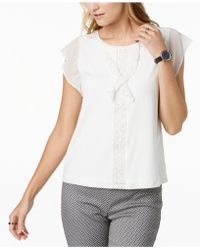 Tommy Hilfiger - Flutter-sleeve Top, Created For Macy's - Lyst