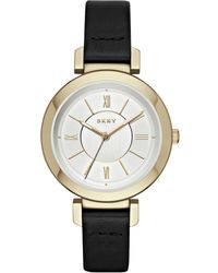 DKNY - Ladies Ellington Leather Strap Watch - Lyst