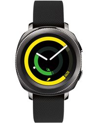 Samsung - Unisex Black Rubber Strap Touchscreen Smart Watch 42.9mm - Lyst