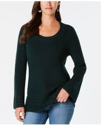 Style & Co. - Flare-sleeve Contrast-border Jumper, Created For Macy's - Lyst