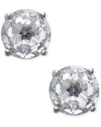 Kate Spade - 14k Gold-plated Crystal Stud Earrings - Lyst