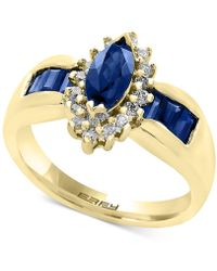 Effy Collection - Sapphire (1-1/4 Ct. T.w.) And Diamond (1/5 Ct. T.w.) Ring In 14k Gold - Lyst