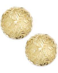 Macy's - Chevron-cut Stud Earrings In 14k Gold - Lyst