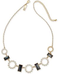 """INC International Concepts - I.n.c. Gold-tone Stone & Imitation Pearl Statement Necklace, 18"""" + 3"""" Extender, Created For Macy's - Lyst"""