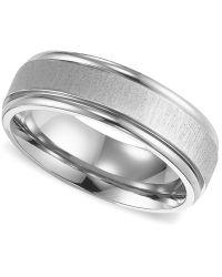 Triton - Men's Titanium Ring, Comfort Fit Wedding Band - Lyst