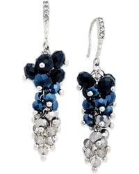 INC International Concepts - Gold-tone Mauve Stone And Crystal Cluster Drop Earrings - Lyst