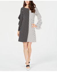 Alfani - Colorblocked Ruffle-sleeve Dress, Created For Macy's - Lyst