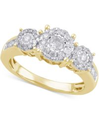 Macy's - Diamond Engagement Ring (3/4 Ct. T.w.) In 14k Gold Or White Gold - Lyst