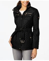 Michael Kors - Quilted Belted Coat - Lyst