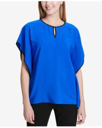 Calvin Klein - Colorblocked Caftan Top - Lyst