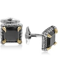 Effy Collection - Men's Onyx (14-1/2 X 13mm) Claw Cuff Links In Sterling Silver And 18k Gold-plate - Lyst