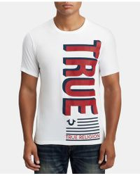 True Religion - Mens Flag Graphic T-shirt - Lyst