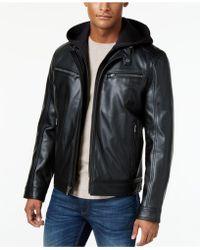 Michael Kors - Hooded Bib Moto Jacket - Lyst