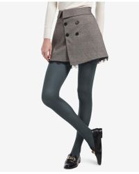 93dd2bf5cfe28 Lyst - Vince Camuto Mesh Windowpane Tights in Gray