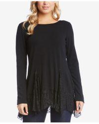 Karen Kane | Lace-trim Sweater | Lyst