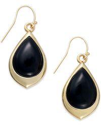 Signature Gold - Onyx Teardrop Earrings In 14k Gold (9-3/8 Ct. T.w.) - Lyst