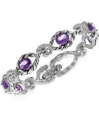 Carolyn Pollack - Amethyst Open Link Bracelet (6-5/8 Ct. T.w.) In Sterling Silver - Lyst