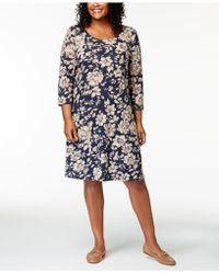 c778f188717e2 Lyst - Karen Scott Plus Size Cotton Tie-front T-shirt Dress