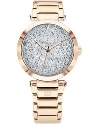 Tommy Hilfiger - Carnation Gold-tone Stainless Steel Bracelet Watch 32mm, Created For Macy's - Lyst