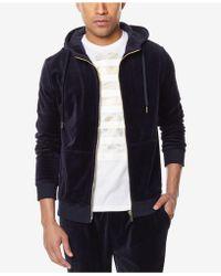 Sean John - Men's Travel Velour Zip-front Sweatshirt - Lyst