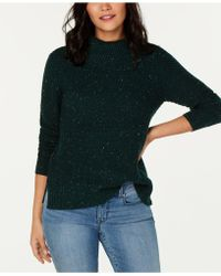 Style & Co. - Petite Envelope-neck Tweed Jumper, Created For Macy's - Lyst