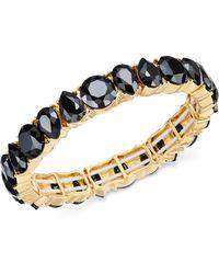 Charter Club | Gold-tone Jet Stone Stretch Bracelet | Lyst