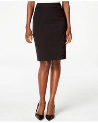 Tahari - Solid Pencil Skirt - Lyst