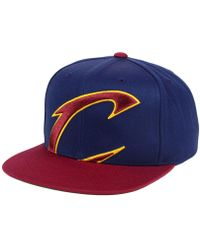 0ce3dd73a07 Mitchell   Ness - Cleveland Cavaliers Cropped Xl Logo Snapback Cap - Lyst