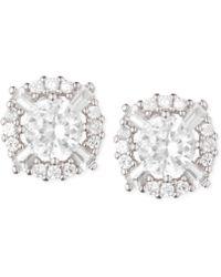 Anne Klein - Elevated Crystal Round Stud Earrings - Lyst