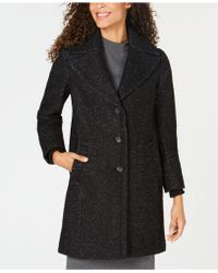 Vince Camuto - Shawl-collar Textured Wool Coat - Lyst