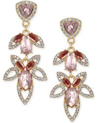 INC International Concepts - I.n.c. Gold-tone Crystal & Stone Openwork Drop Earrings, Created For Macy's - Lyst
