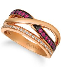Le Vian - ® Passion Rubytm (1/4 Cttw) And Nude Diamondstm (1/4 Cttw) Ring Set In 14k Rose Gold - Lyst