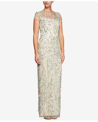 Alex Evenings - Sequined Embroidered Tulle Gown - Lyst
